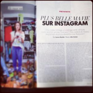 Article du Elle sur Instagram
