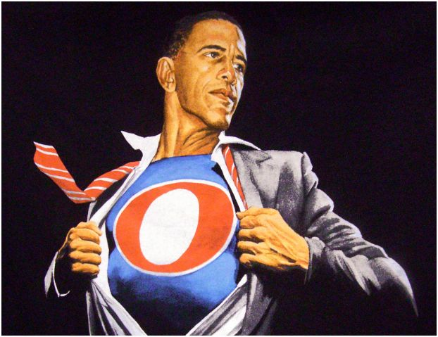 Obama Super hero