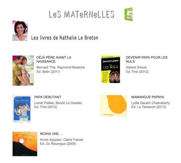 Les livres de Nathalie Breton, Les maternelles - ©France5