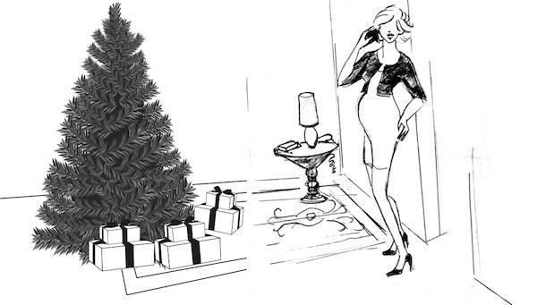 Noël femme enceinte - Silhouette ©BabyBuzz.fr par Danielle Peufaillit