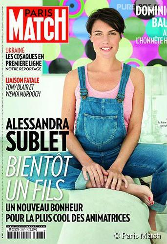 Alessandra Sublet enceinte dans Paris Match