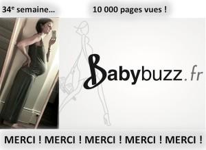34e semaine, 10000 vues sur BabyBuzz.fr